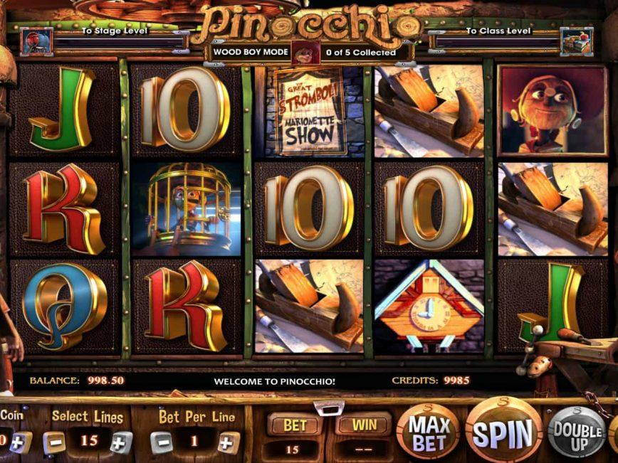 Play free casino slot Pinocchio