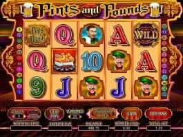 Free casino slot game Pints and Pounds no deposit