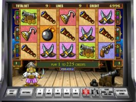 Online casino slot game Pirate II for fun