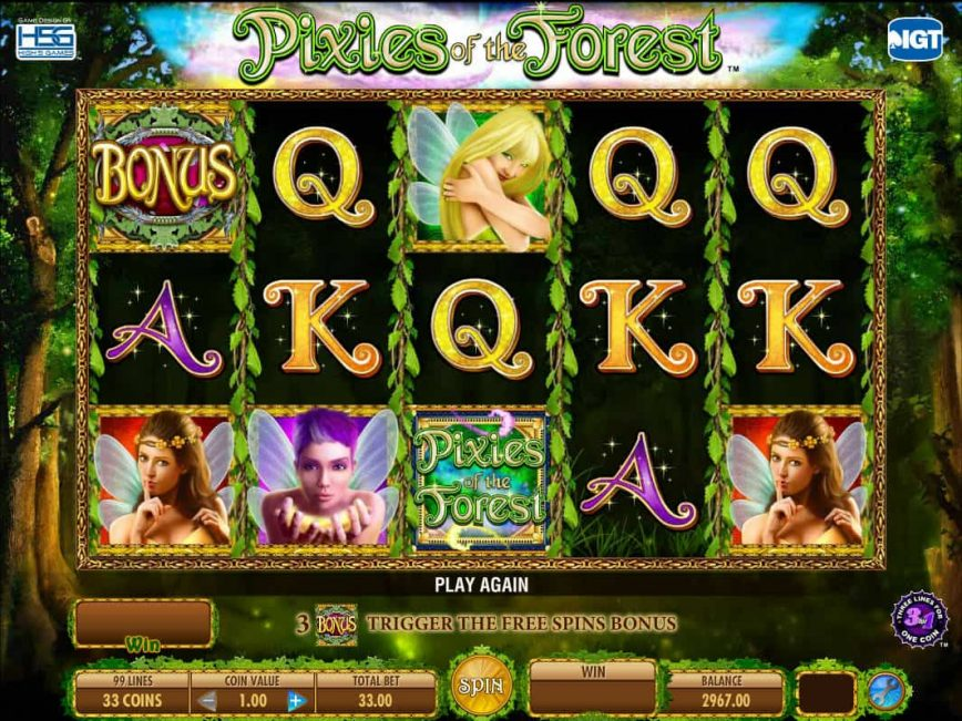 Free casino slot game Pixies of the Forest