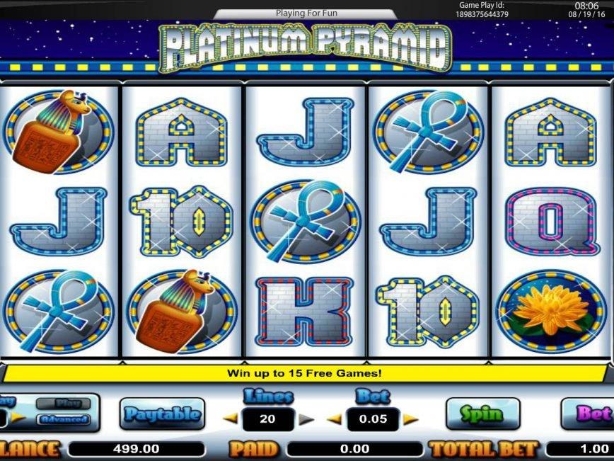 Play free slot machine Platinum Pyramid for fun