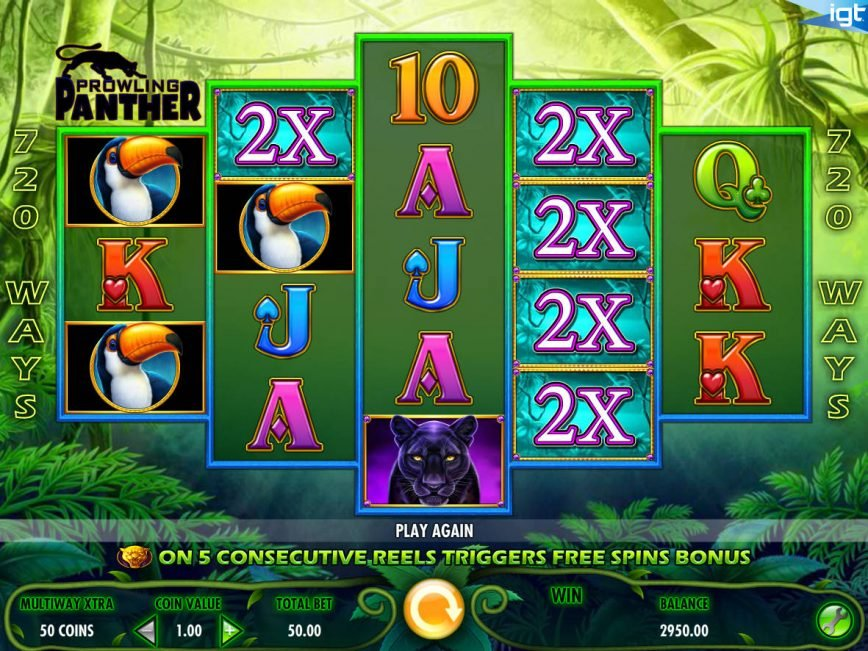 Play free casino slot game Prowling Panther online