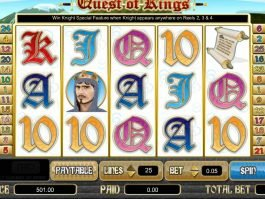 Play Quest of Kings online slot game for free