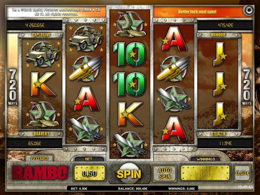 Online free slot game Rambo no deposit