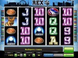 Play free online slot machine Rex