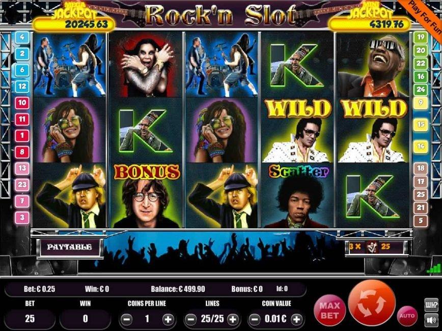 Free slot machine Rock'n Slot no registraion