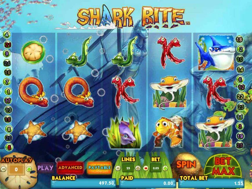 Play free online casino slot Shark Bite