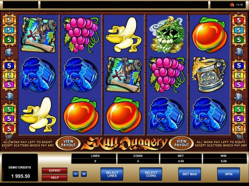 Spin free online slot Skull Duggery no deposit