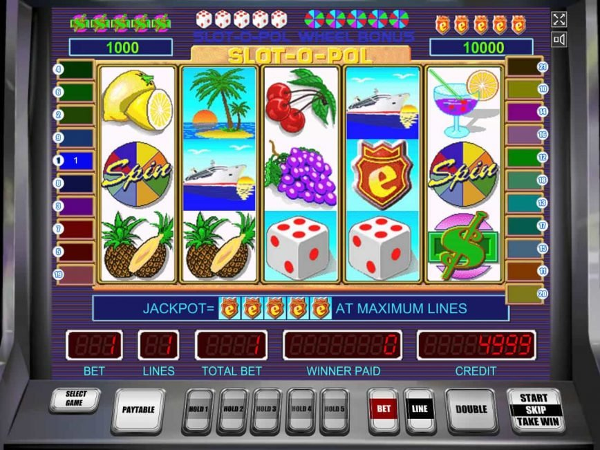 Picture from online casino machine Slot-O-Pol