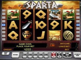 Play free casino slot Sparta no deposit