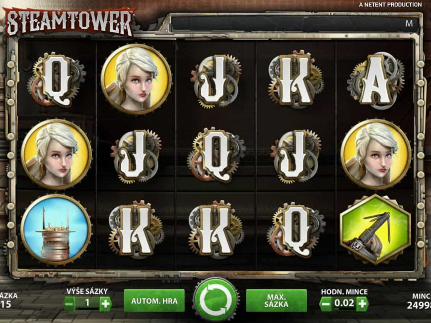 Play free casino slot Steam Tower online