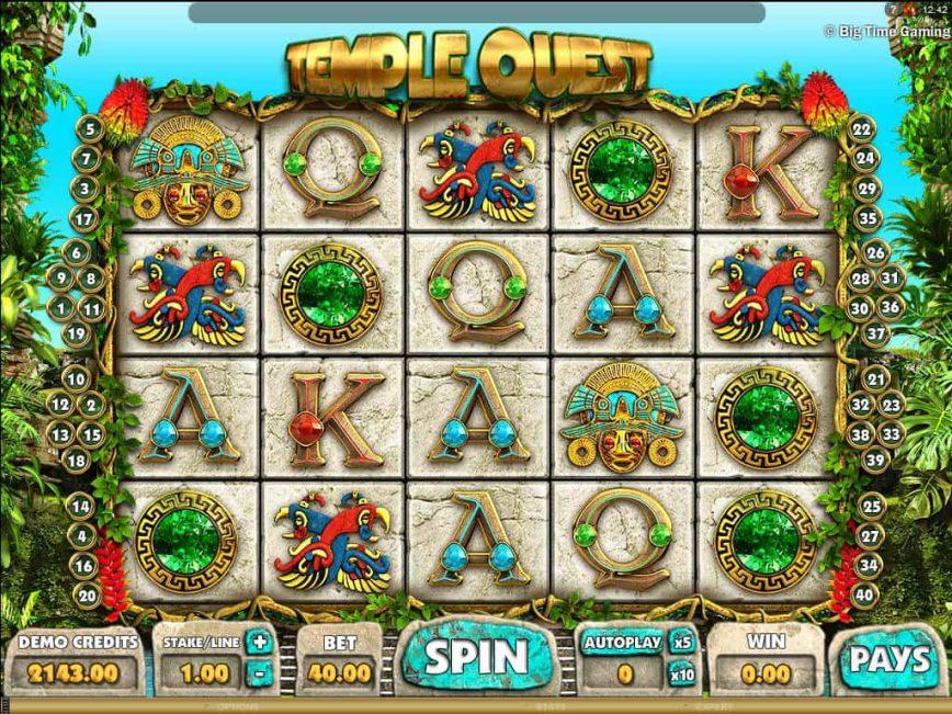 Online casino slot for fun Temple Quest