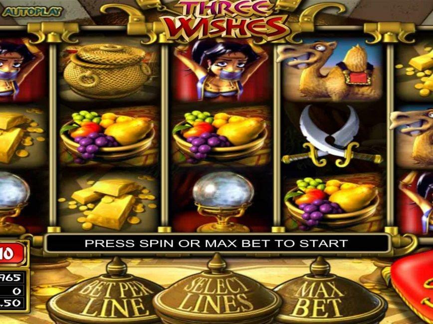 Play free slot machine Three Wishes online