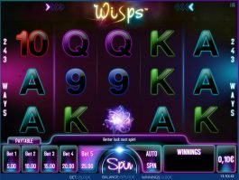 Online casino slot game Wisps