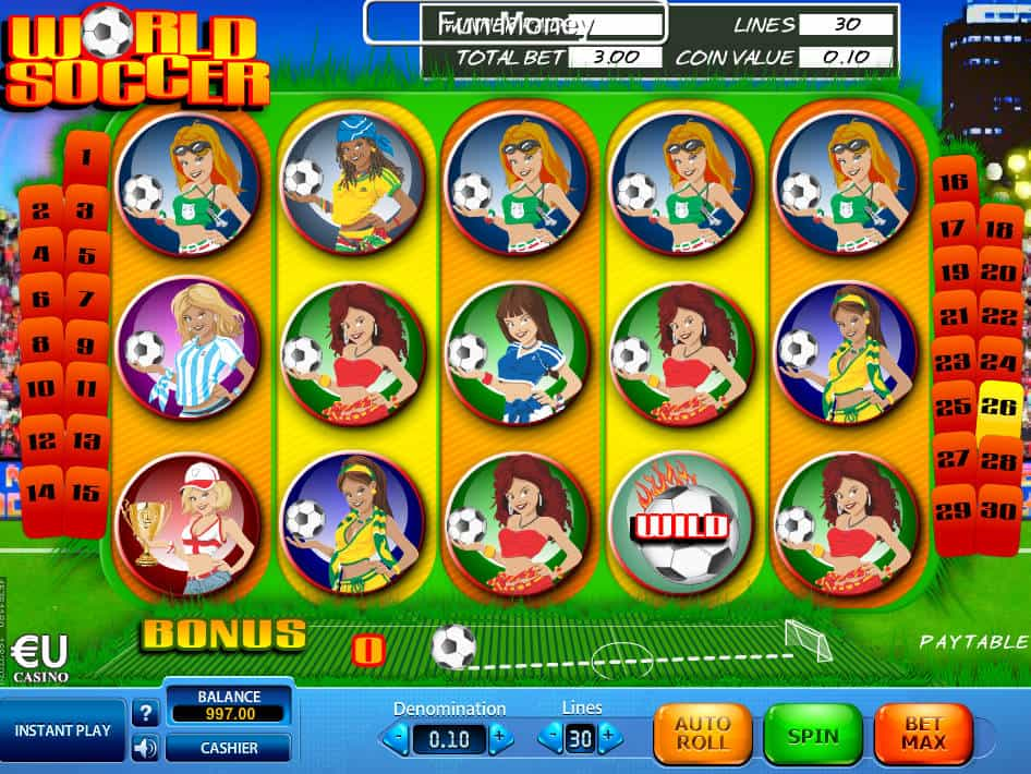 Free World Soccer Slot Machine Online