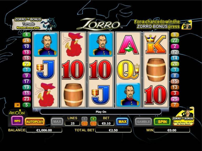 Free Zorro Casino Games