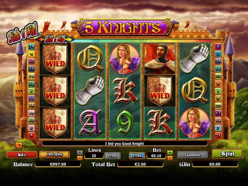 Slot machine 5 Knights no deposit