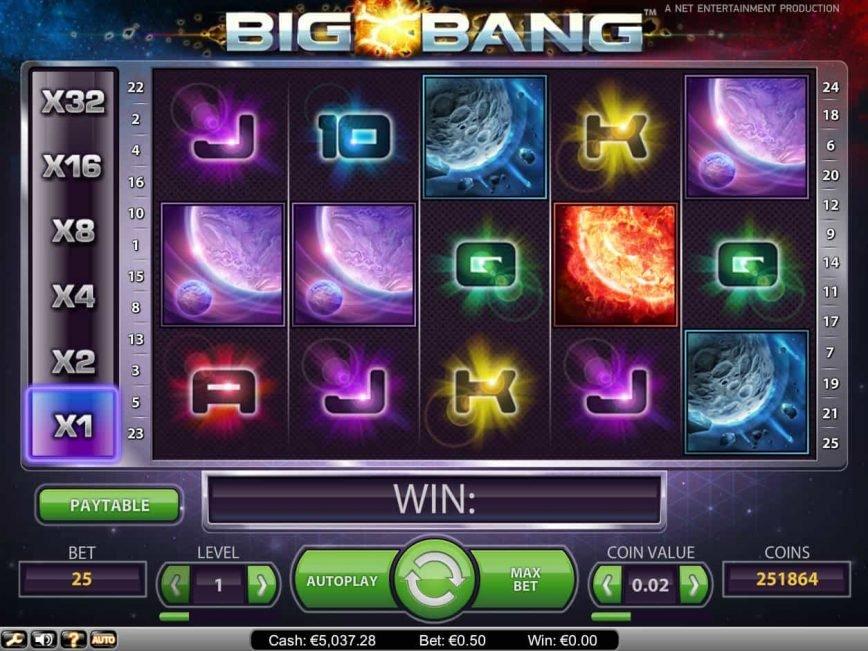 Casino free slot Big Bang no deposit