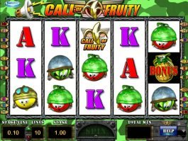 Online casino slot game Call of Fruity