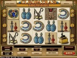 Free casino slot Cleopatra's Treasure by Isoftbet