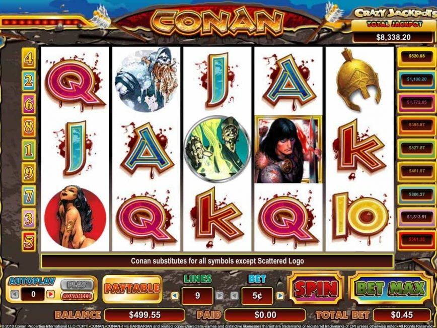 Slot machine Conan the Barbaran