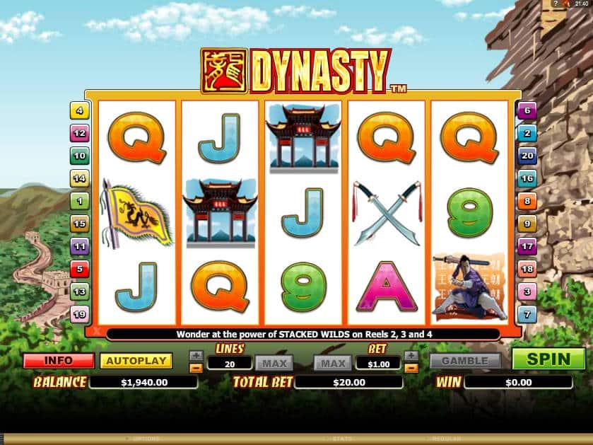 Online slot game Dynasty no deposit