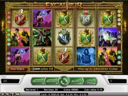 Online slot game Excalibur no deposit