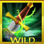 Wild symbol from free slot machine Excalibur