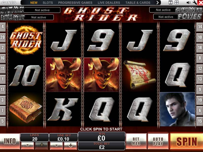 Play online casino slot machine Ghost Rider
