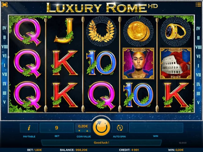 Luxury Rome online free slot