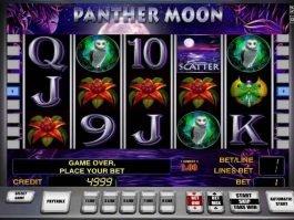 Casino slot machine Panther Moon no deposit