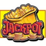 Jackpot symbol from online slot game Reel King