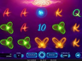 Casino slot game Sparks