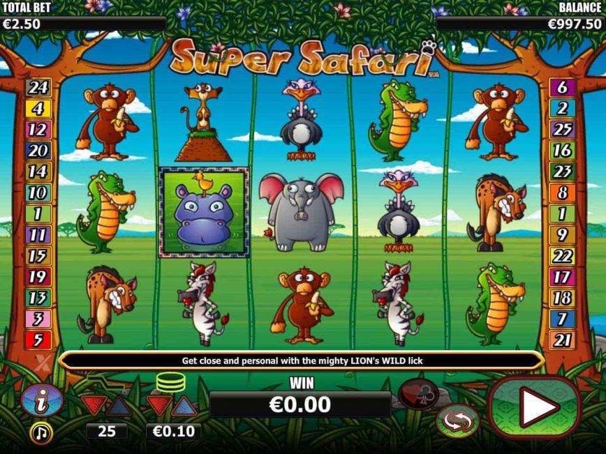 Online slot machine Super Safari