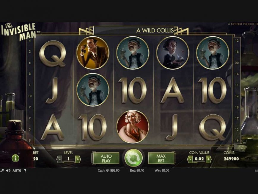The Invisible Man Slot Machine