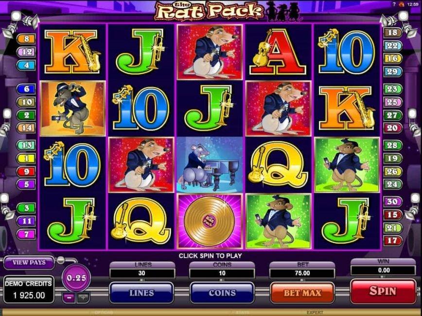 No deposit online slot The Rat Pack