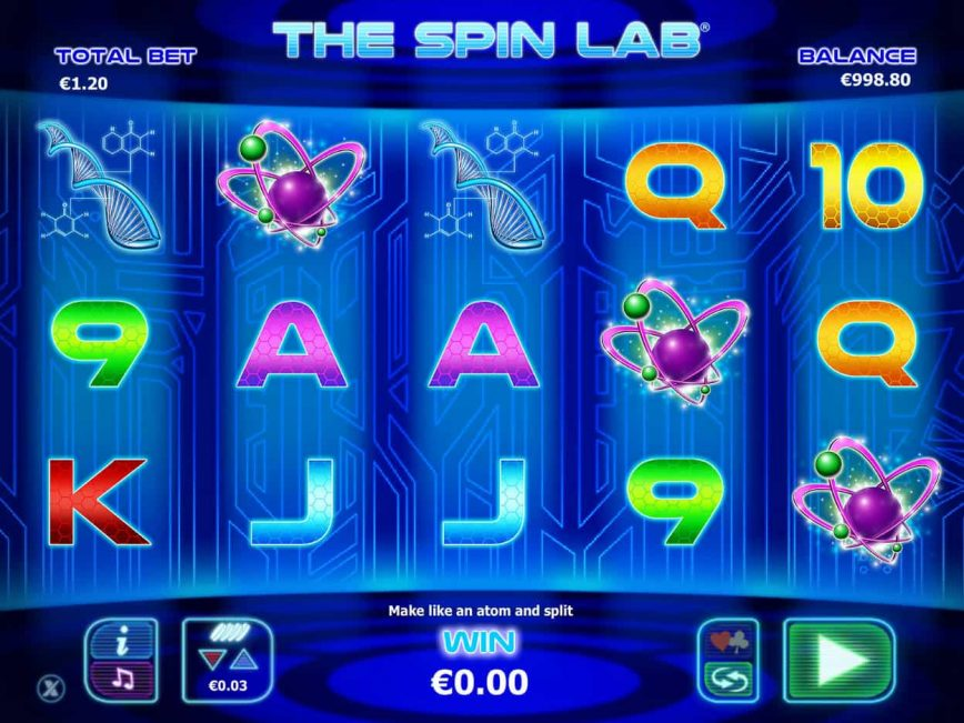 Online slot game The Spin Lab no deposit