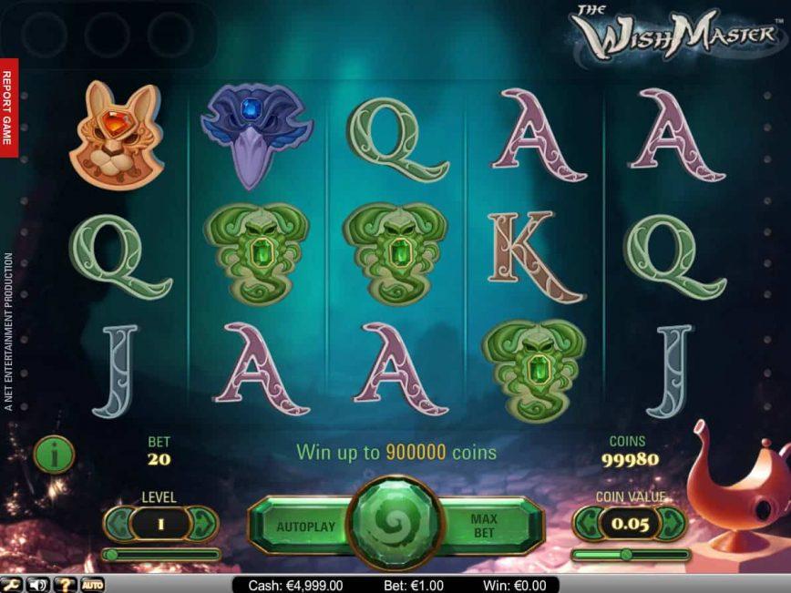 Casino slot machine The WishMaster no deposit