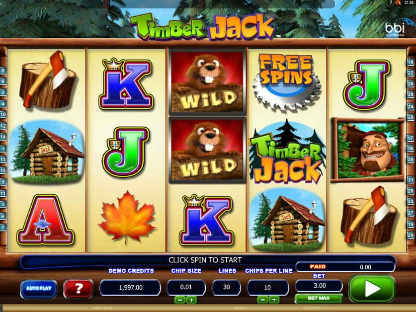 Online free slot game Timber Jack