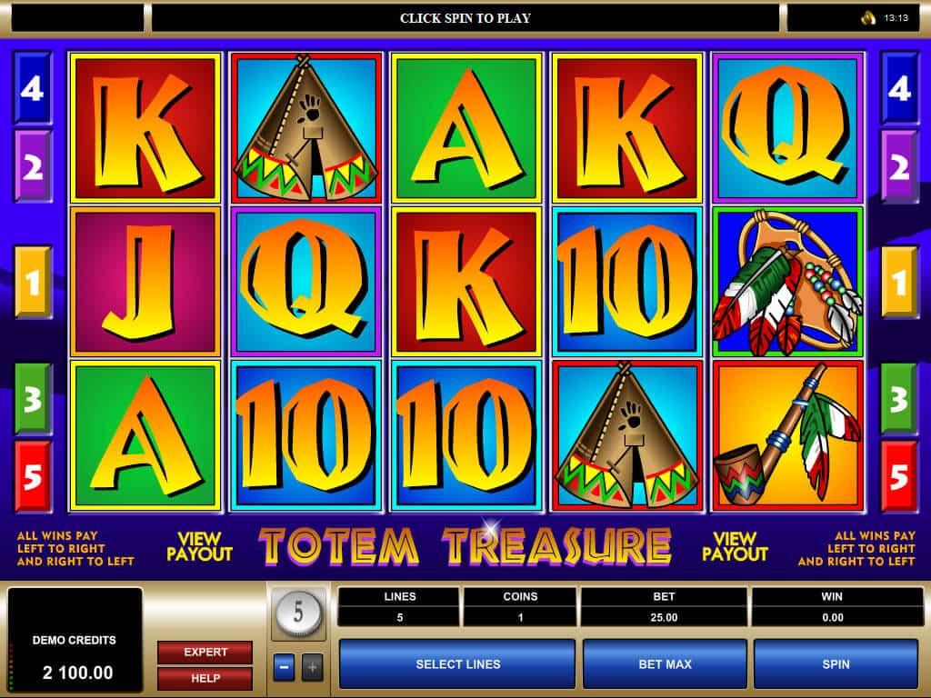 Review the Totem Treasures No Download Slots