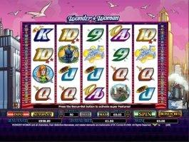 Spin casino slot game Wonder Woman
