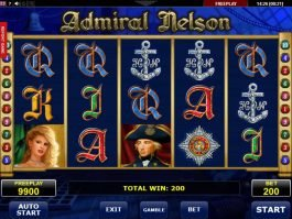Free slot machine Admiral Nelson no deposit