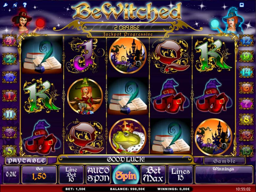 Online free slot machine Bewitched no deposit