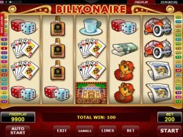 Picture from casino slot machine Billyonaire