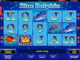Casino slot game Blue Dolphin no deposit