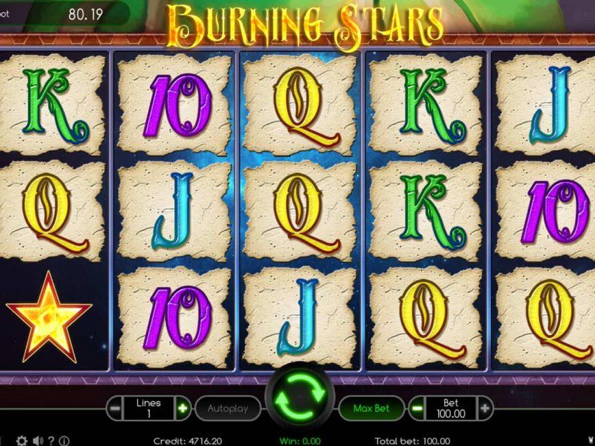 Burning Stars online slot machine for fun