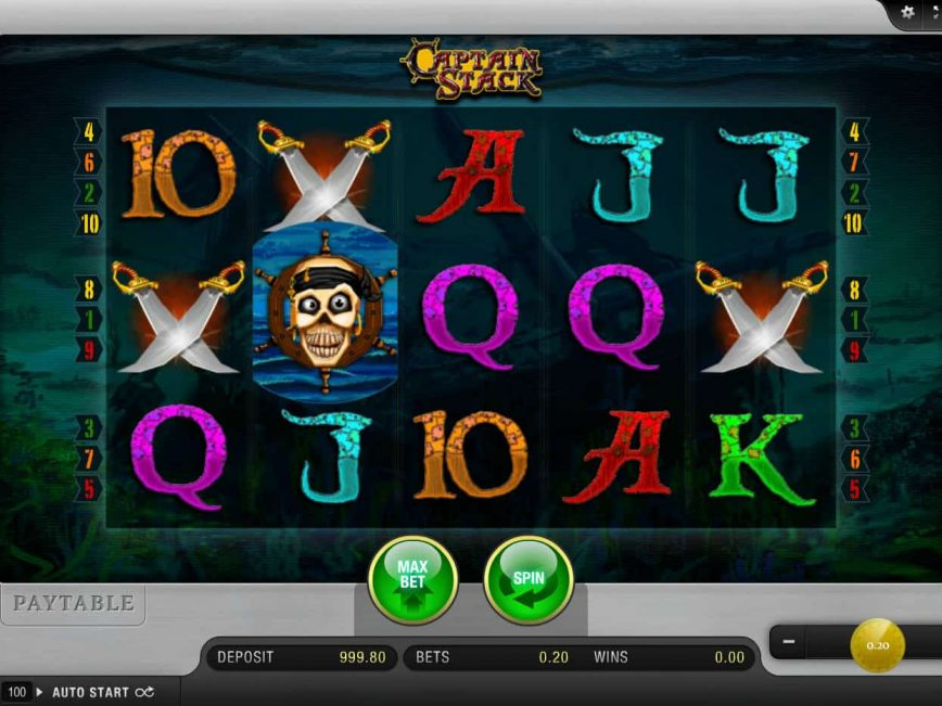 Captain Stack free slot no deposit