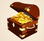 Online slot machine Captain's Treasure 9 Lines - scatter