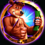 Wild symbol from Cash Cave free slot game