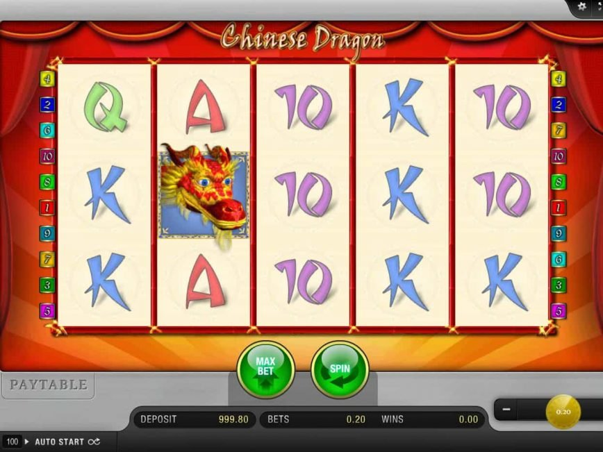 Spin online free slot Chinese Dragon